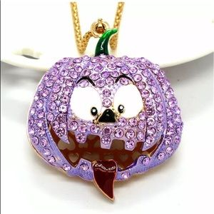 Crystal Purple Pumpkin 🎃 Necklace
